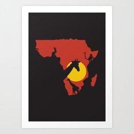 African Savanna. Art Print
