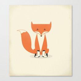 A Fox With Socks Canvas Print