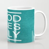good vibes only Mugs featuring Good Vibes Only by Jenna Davis Designs