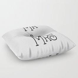 Mr &Mrs Floor Pillow