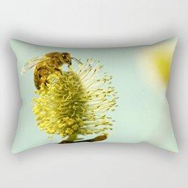 Honey Bee on spring Rectangular Pillow