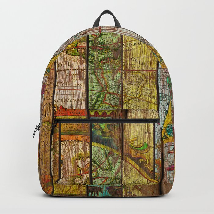 Around the World in Thirteen Maps Backpack