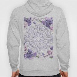 Mandala Rose Garden Lavender Purple Violet Hoody