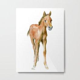 Watercolor Horse Painting Metal Print