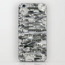 Atomic Bokeh (P/D3 Glitch Collage Studies) iPhone Skin
