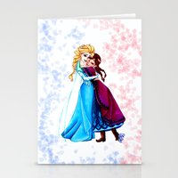 sisters Stationery Cards featuring Sisters by Siney