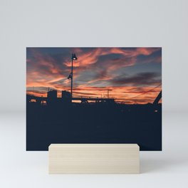 Sunset Over the City Street Photography Mini Art Print