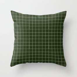 green grid Throw Pillow