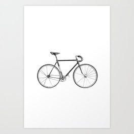 bicycle - portrait Art Print
