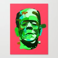 frank Canvas Prints featuring Frank. by Huxley Chin