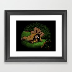 The Tree and the Raccoon Framed Art Print