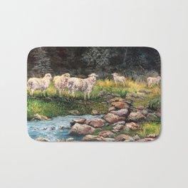 New Zealand Sheep Grazing Bath Mat