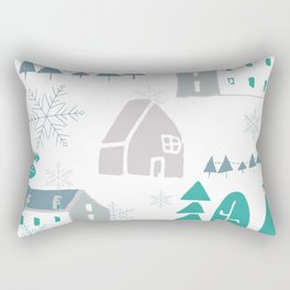 winter holiday houses Rectangular Pillow