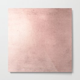 Blush Rose Gold Ombre  Metal Print