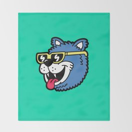 Cool Bear (portrait) Throw Blanket