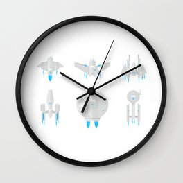 Future Space Planes Wall Clock