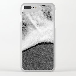 Sea foam on the sand Clear iPhone Case