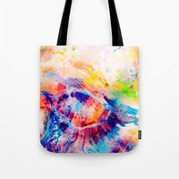 iris Tote Bags featuring Iris by Kimsey Price