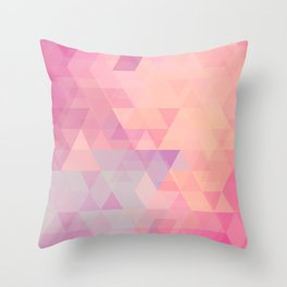 All About The Triangles Throw Pillow