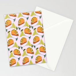 Tacos y Margaritas Pattern Stationery Cards