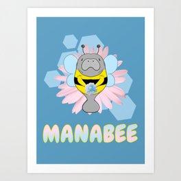 Manabee Manatee Art Print