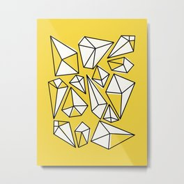 Shine Bright Like A Diamond | Yellow Metal Print