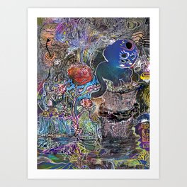 mooncat Art Print