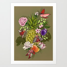 Glam Tropical Art Print
