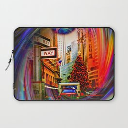 Christmas shopping New York Laptop Sleeve