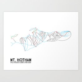 Mt. Hotham, Victoria, Australia - Minimalist Trail Art Art Print