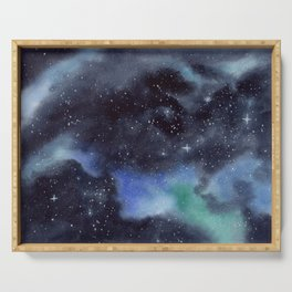 Galaxy Painting Serving Tray
