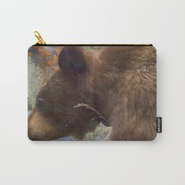 Collared Cinnamon Black Bear at Vermillion Lakes painterly Carry-All Pouch
