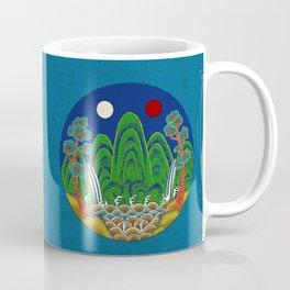Minhwa: Sun, Moon and 5 Peaks: King's painting B_1 Type Coffee Mug