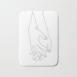 Holding hands illustration - Elana White Bath Mat