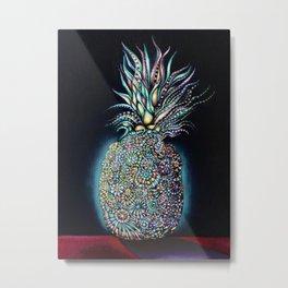 Transcendent Pineapple Metal Print
