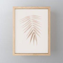 Palm Leaf Finesse #1 #minimal #tropical #decor #art #society6 Framed Mini Art Print