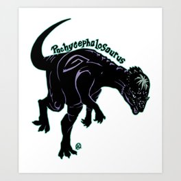 Pachycephalosaurus (Archosaurs Series) Art Print