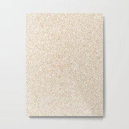 Spacey Melange - White and Tan Brown Metal Print