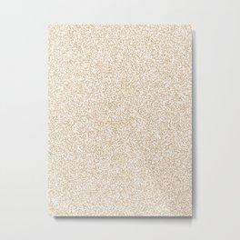 Spacey Melange - White and Tan Brown Metal Print