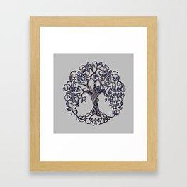 Tree of Life Silver Framed Art Print