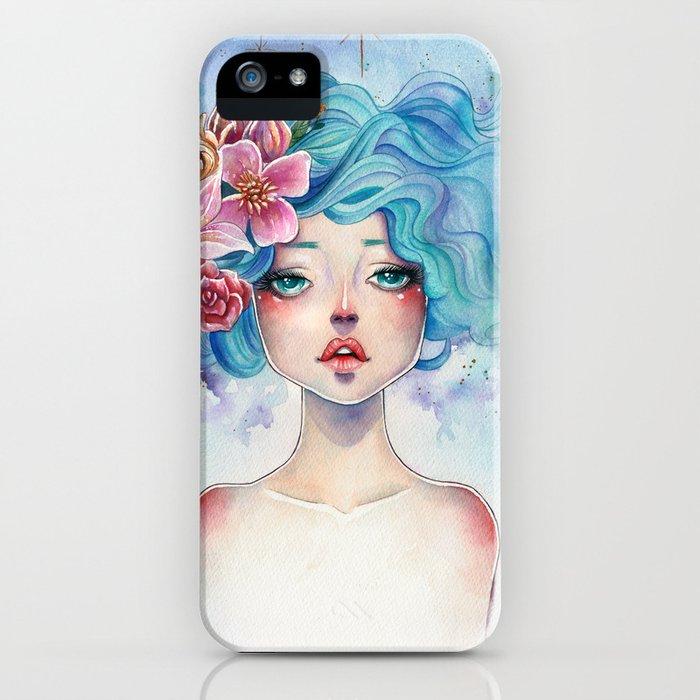 Blue Hair iPhone Case