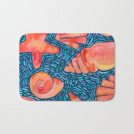 Seashell bomb Bath Mat
