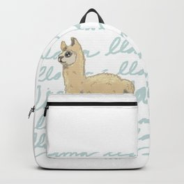 Llama Be My Best Backpack