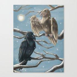 Winter Ravens Canvas Print