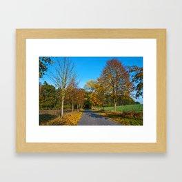 Autumnal feeling of October Framed Art Print