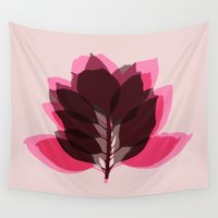 decal Wall Tapestries featuring Blossom Pink by Garima Dhawan
