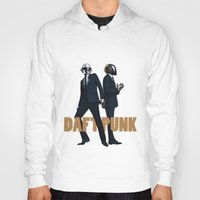 daft punk Hoodies featuring Daft Punk by joshuahillustration