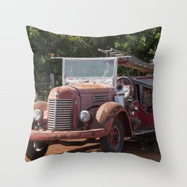 Antique Fire Truck Throw Pillow