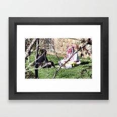 Barcelona: Two girls Framed Art Print