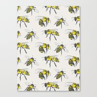 bees Canvas Prints featuring Bees by Tracie Andrews